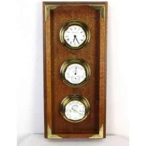 Other - Brass Wood French Clock Baromoter Themometer